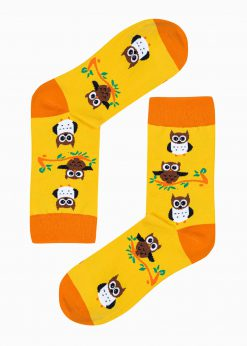 Geltonos vyriškos kojinės su paveiksliukais internetu U184 20833-1