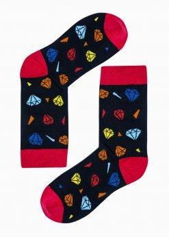 Juodos vyriškos kojinės su paveiksliukais internetu U183 20834-1