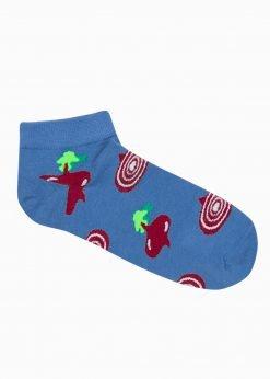 Mėlynos trumpos vyriškos kojinės su paveiksliukais internetu U179 20897-1