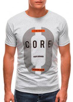 Pilki vyriški marškinėliai su užrašu internetu S1491 20908-1