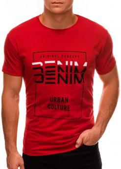 Raudoni vyriški marškinėliai su užrašu internetu S1485 20920-1