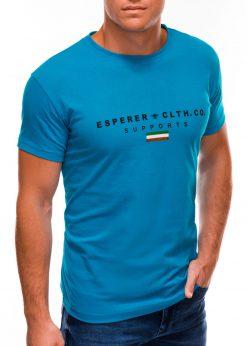 Mėlyni vyriški marškinėliai su užrašu internetu S1489 20923-4