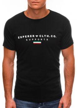 Juodi vyriški marškinėliai su užrašu internetu S1489 20924-4