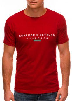 Raudoni vyriški marškinėliai su užrašu internetu S1489 20925-2
