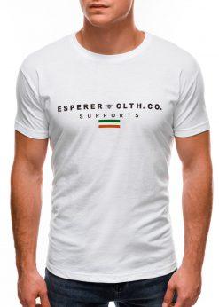 Balti vyriški marškinėliai su užrašu internetu S1489 20926-2