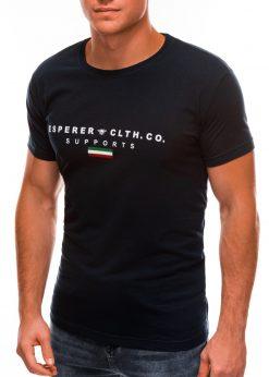 Tamsiai mėlyni vyriški marškinėliai su užrašu internetu S1489 20927-4