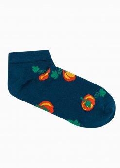 Tamsiai mėlynos trumpos vyriškos kojinės su paveiksliukais internetu U181 20930-1
