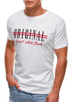 Balti vyriški marškinėliai su užrašu internetu S1486 20932-3