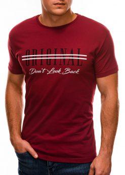 Tamsiai raudoni vyriški marškinėliai su užrašu internetu S1486 20933-2