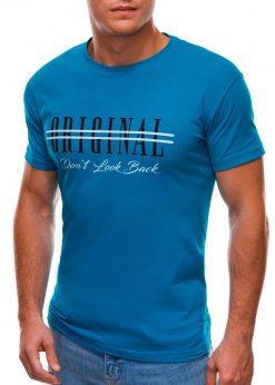 Mėlyni vyriški marškinėliai su užrašu internetu S1486 20935-4