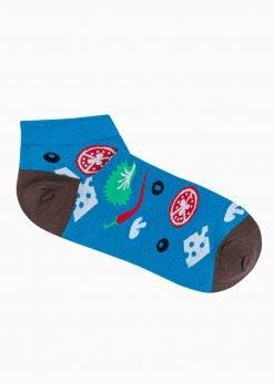 Mėlynos trumpos vyriškos kojinės su paveiksliukais internetu U182 20937-1
