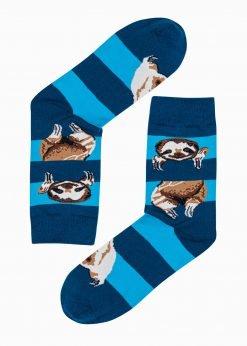 Mėlynoskokybiškos vyriškos kojinės su paveiksliukais internetuU200 20939-2