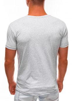 Pilki vyriški marškinėliai su užrašu internetu S1488 20940-4