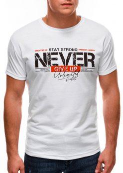 Balti vyriški marškinėliai su užrašu internetu S1488 20942-2