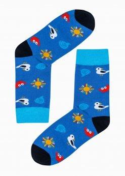 Mėlynoskokybiškos vyriškos kojinės su paveiksliukais internetuU196 20950-1