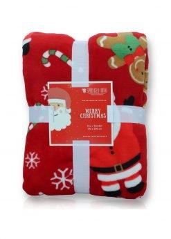 Raudona kalėdinė antklodė 150x200 A414 21118-4