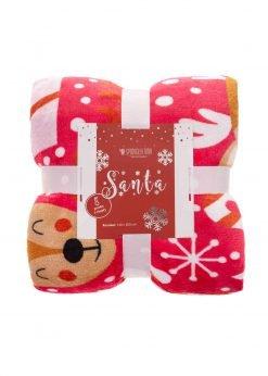 Raudona kalėdinė antklodė 150x200 A415 21120-2