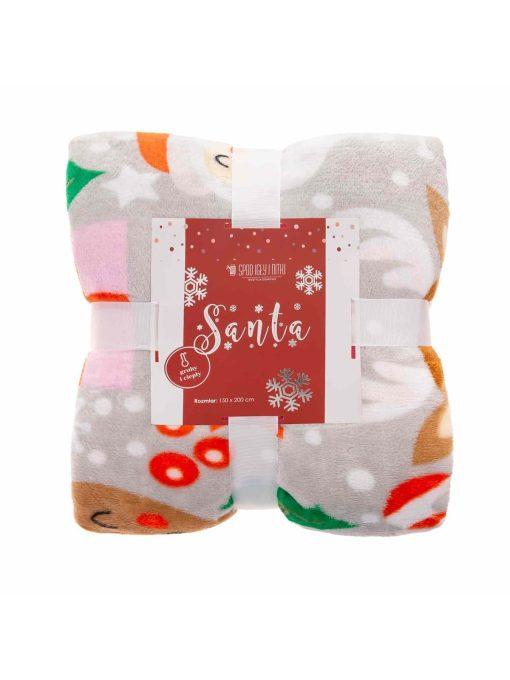 Pilka kalėdinė antklodė 150x200 A415 21121-2