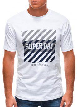 Balti vyriški marškinėliai su užrašu internetu S1492 21465-1