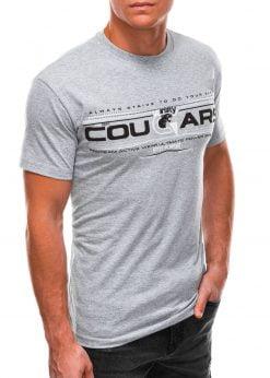 Pilki vyriški marškinėliai su užrašu internetu S1493 21546-1