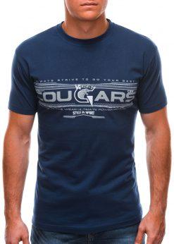Tamsiai mėlyni vyriški marškinėliai su užrašu internetu S1493 21547-1
