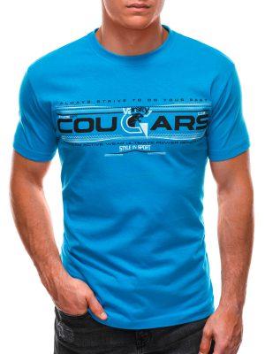 Mėlyni vyriški marškinėliai su užrašu internetu S1493 21548-1
