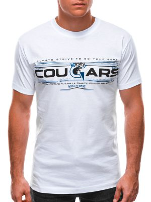 Balti vyriški marškinėliai su užrašu internetu S1493 21549-1