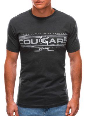 Tamsiai pilki vyriški marškinėliai su užrašu internetu S1493 21555-1