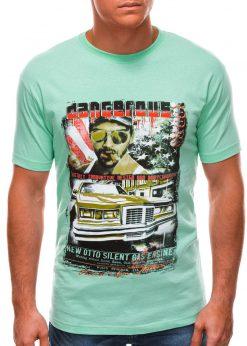 Mėtų vyriški marškinėliai su nuotrauka S1494 21653-1