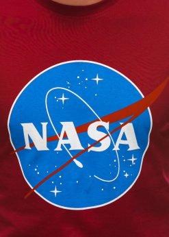 Raudoni vyriski marskineliai su uzrasu nasa S1497 21675-2