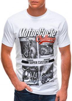 Balti vyriški marškinėliai su nuotrauka S1496 21745-1