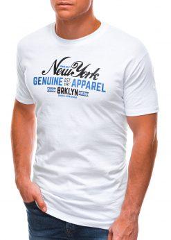 Balti vyriški marškinėliai su užrašu S1498 21758-1