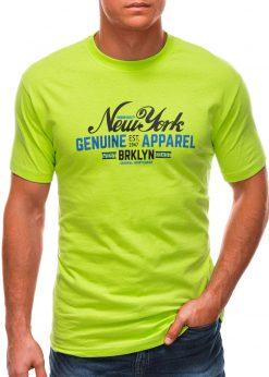 Salotiniai vyriški marškinėliai su užrašu S1498 21766-1