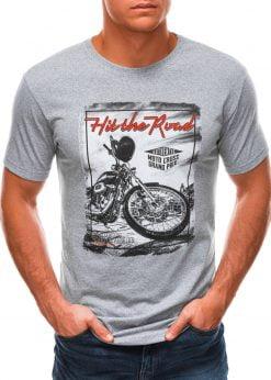 Pilki vyriški marškinėliai su nuotrauka S1499 21772-1