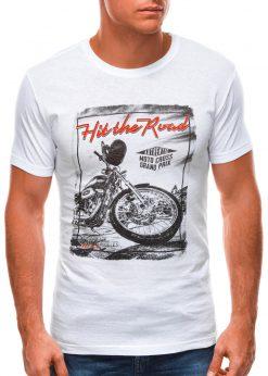 Balti vyriški marškinėliai su nuotrauka S1499 21775-1